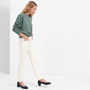 Everlane Modern Boyfriend white jeans